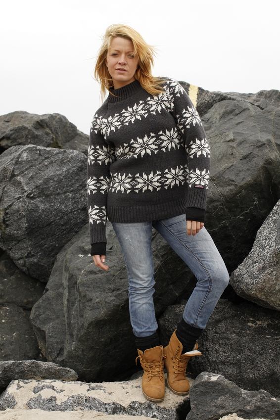f36304bb8bf Norwool Islænder Sweater (Mørk)